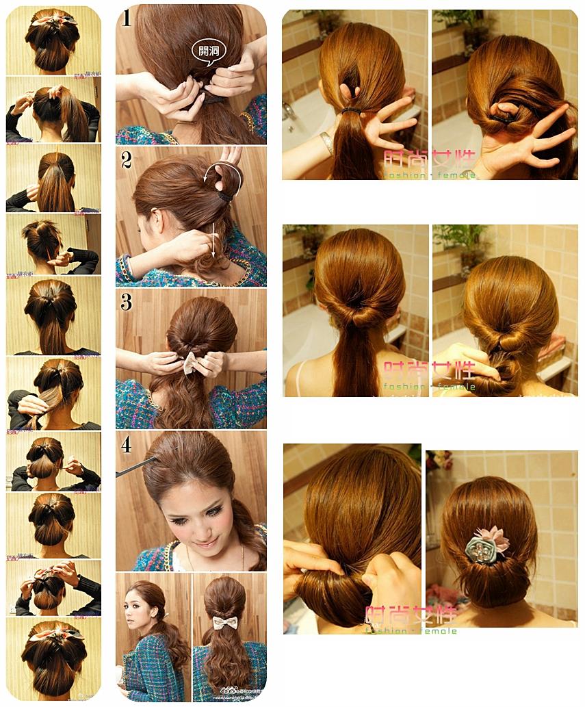 Прически на длинные волосы своими руками пошаговое фото для девочек фото 376
