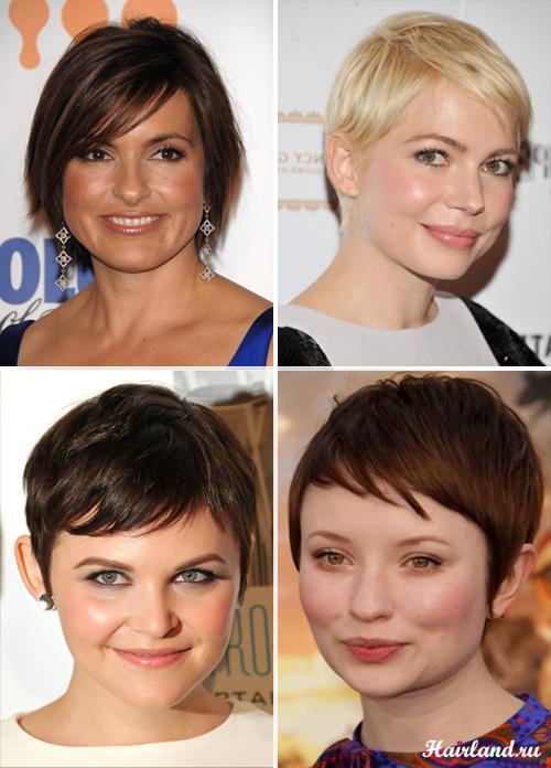 Короткие стрижки для всех типов лица фото