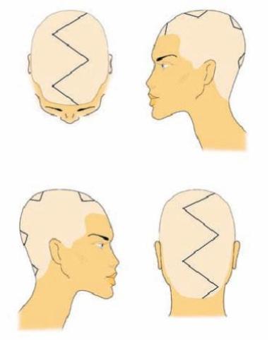 окрашивания прямых волос