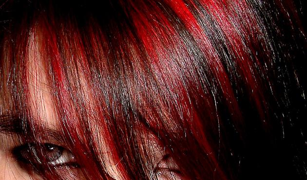 Колорирование на чёрные волосы
