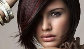Колорирование на темные волосы в домашних условиях
