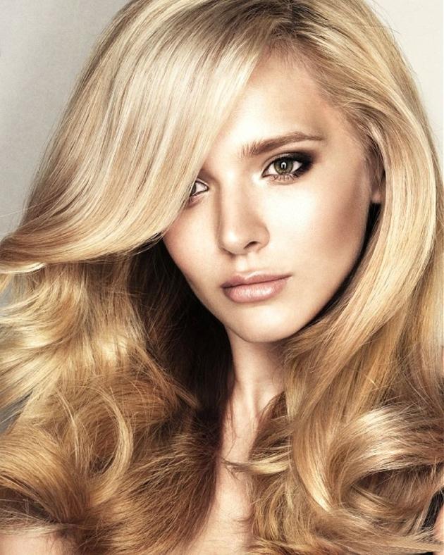 бликующее мелирование на русые волосы