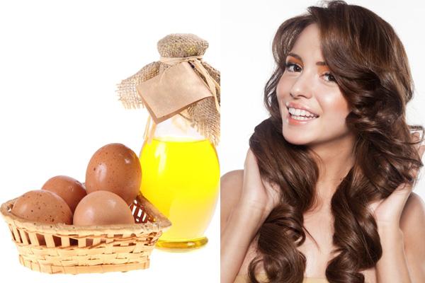 маска из яиц и оливкового масла