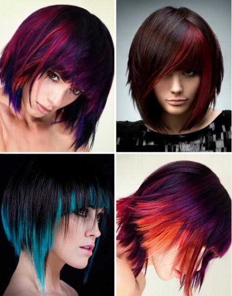 колорирование темных волос 2