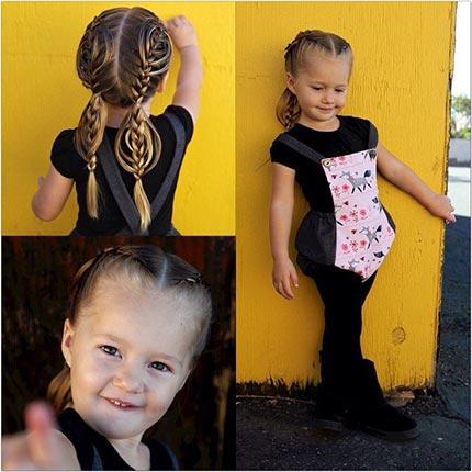 детская прическа с ажурными косами, фото