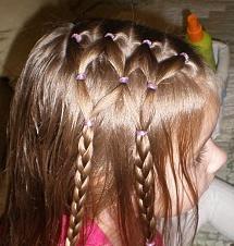 прическа для девочки из хвостиков и косичек, фото 4