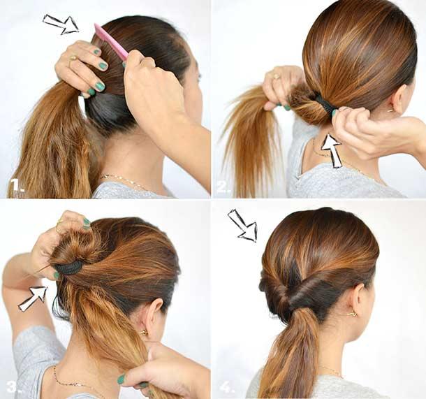 Причёски на длинные волосы на каждый день своими руками поэтапно фото
