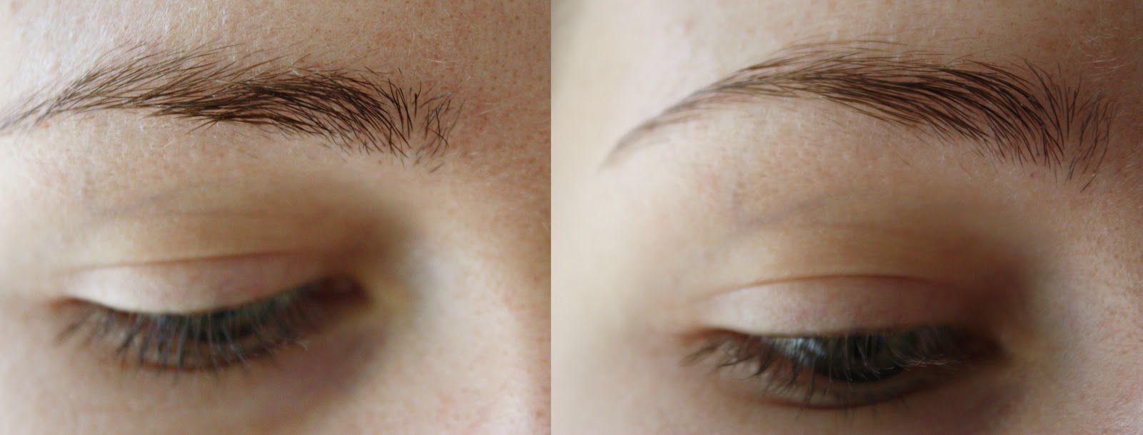 Укладка бровей гелем, фото до и после