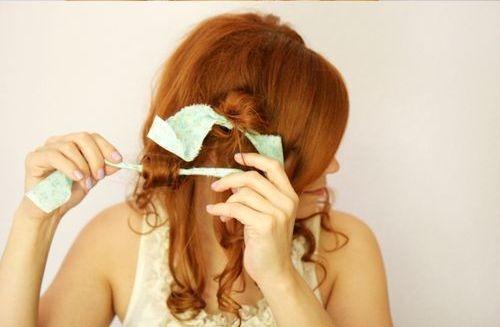 как накрутить волосы на тряпочки — пошагово, фото 2
