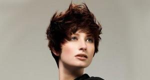 асимметричная укладка коротких волос