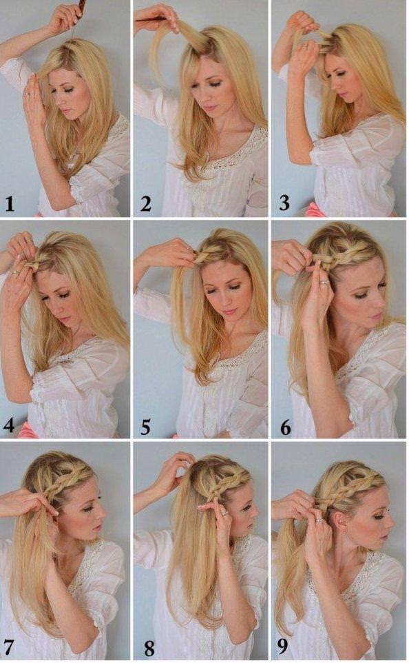 Как заплести косу бохо из челки