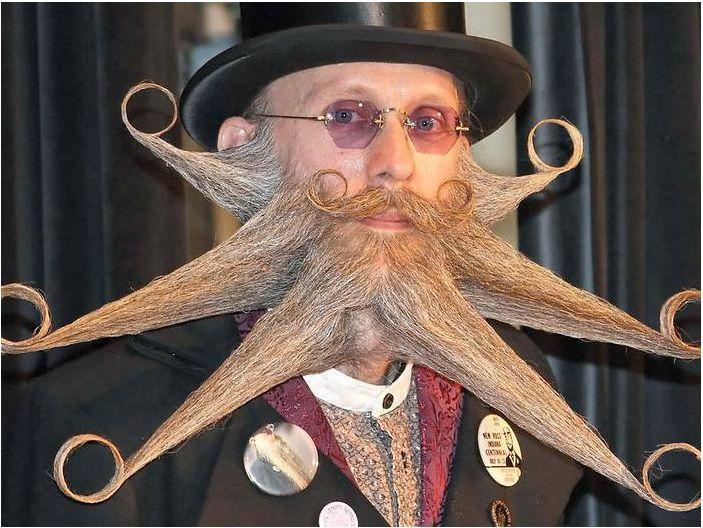 Красивая необычная борода