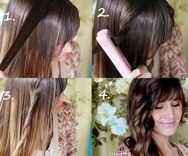 Завить волосы утюжком, жгуты