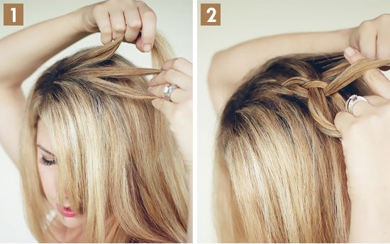 прическа с косичкой на средние волосы