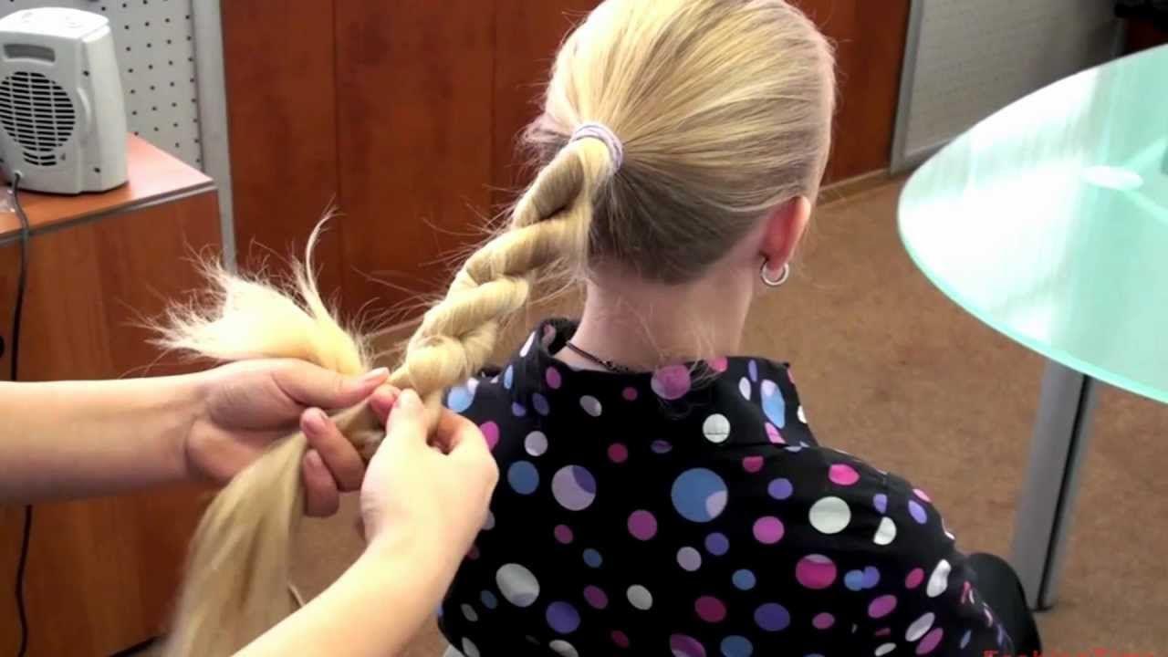 коса-жгут из хвоста