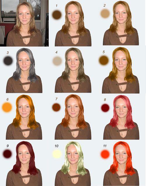Подбор оттенка волос